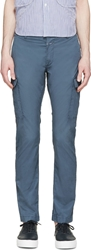 Closed Steel Blue Cargo Trousers