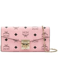 Mcm Patricia Wallet Pink And Purple