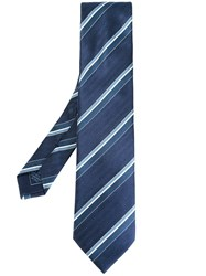Brioni Striped Tie Blue
