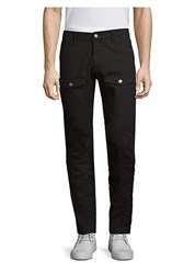 Versus By Versace D Patch Skinny Cargo Pants Black