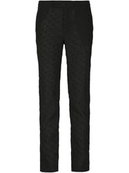 Alexandre Plokhov Polka Dot Slim Fit Trousers Black