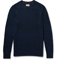Nudie Jeans Dag Melange Wool Sweater Blue