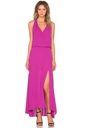 Krisa Halter Maxi Dress Fuchsia