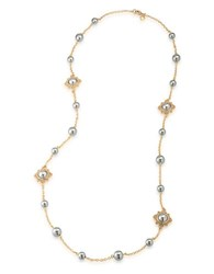 Carolee 12K Goldplated Faux Pearl Illusion Necklace