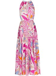 Emilio Pucci Printed Draped Maxi Dress 60