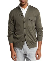 Brunello Cucinelli Cotton Pocket Cardigan Hunter