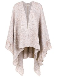 Cecilia Prado Madalena Knit Cape Grey