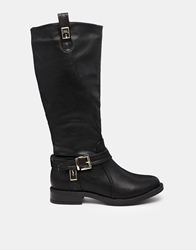 Truffle Collection Truffle Ruby Buckle Riding Boots Black