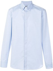 Gucci Embroidered Shirt Blue