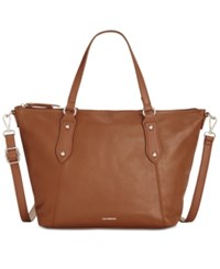 Giani Bernini Pebble Leather Zip Satchel Only At Macy's Tobacco