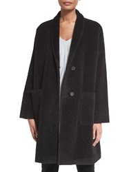 Eileen Fisher Alpaca Blend Knee Length Coat Petite