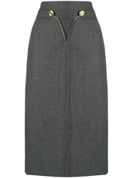 Louis Feraud Vintage 1980 Skirt Grey