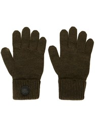 Dsquared2 Canadian Emblem Gloves Green