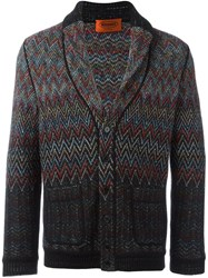 Missoni Zig Zag Knit Cardigan Multicolour