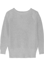 Adam By Adam Lippes Textured Cotton Cashmere And Silk Blend Sweater Stone