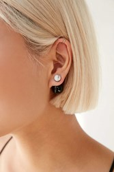 Amber Sceats Grand Ellipse Stud Earring Black And White