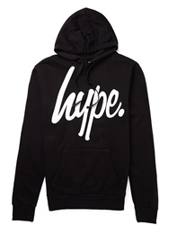 Hype Black Hoodie With White Script
