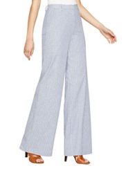 Bcbgmaxazria Ethen Wide Leg Pants Chambray