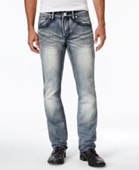 Inc International Concepts Men's Slim Fit Medium Wash Faded Jeans Only At Macy's