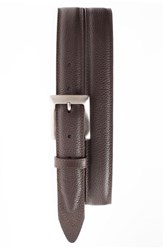 Men's Will Leather Goods Trapunto Feather Edge Belt