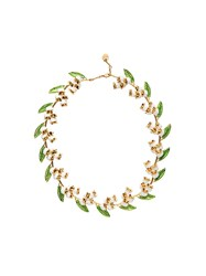 Miu Miu Floral Necklace Gold
