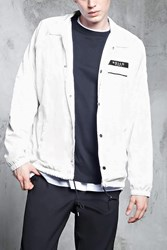 Forever 21 My Name Is Graphic Windbreaker White Black