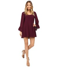 Show Me Your Mumu Boomerang Low Back Dress Dark Plum Chiffon Women's Dress Red