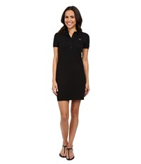 Lacoste Short Sleeve Pique Polo Dress Black Women's Dress