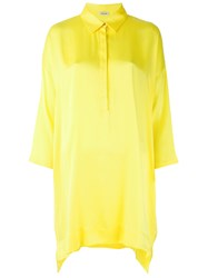 P.A.R.O.S.H. Oversized Blouse Women Silk Spandex Elastane M Yellow Orange