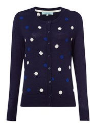 Dickins And Jones Polka Dot Cardigan Navy