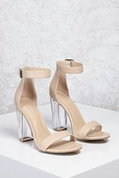 Forever 21 Lucite Ankle Strap Heels