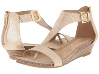 Kenneth Cole Reaction Great Gal Soft Gold Sandals