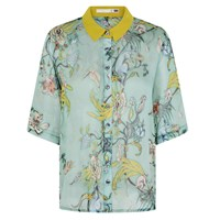 Klements Mildred Shirt In Kanagroo Print Green