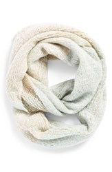 Junior Women's Bp. Colorblock Infinity Scarf Ivory Ivory Blue