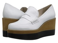 Jil Sander Jn27034 Bianco Galaxy Calf Women's Wedge Shoes White