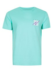 Topman Green Aqua Counter Print T Shirt