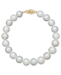 Belle De Mer Cultured Freshwater Pearl Strand Bracelet 8 1 2 9 1 2Mm In 14K Gold
