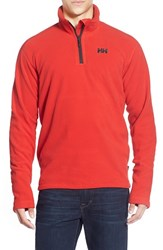 Men's Helly Hansen 'Daybreaker' Half Zip Fleece Jacket Flag Red