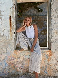 Free People Sun Island Extreme Wide Leg By