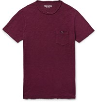 Todd Snyder Slim Fit Slub Cotton Jersey T Shirt Burgundy