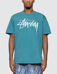 Stussy Stock Pigment Dyed T Shirt Blue
