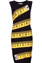 Moschino Intarsia Knit Wool And Cashmere Blend Dress Black
