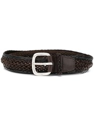Orciani Braided Detail Belt 60