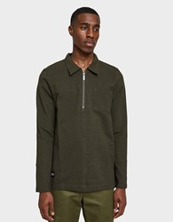 Native Youth Halidon Long Sleeve Polo Sweat In Olive