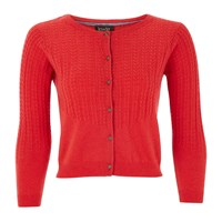 Lowie Cashmere Mix Cardigan Red