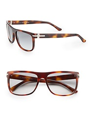 Gucci 57Mm Square Wayfarer Sunglasses Tortoise