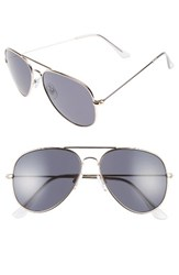 Women's Bp. Mirrored Aviator 57Mm Sunglasses Gold Black Gold Black