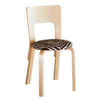Artek Upholstered Chair 66 Natural Lacquered