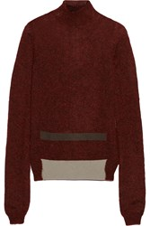 Rick Owens Mohair And Silk Blend Turtleneck Sweater Red