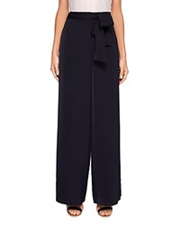 Ted Baker Maurli Wide Leg Tie Waist Pants Dark Blue